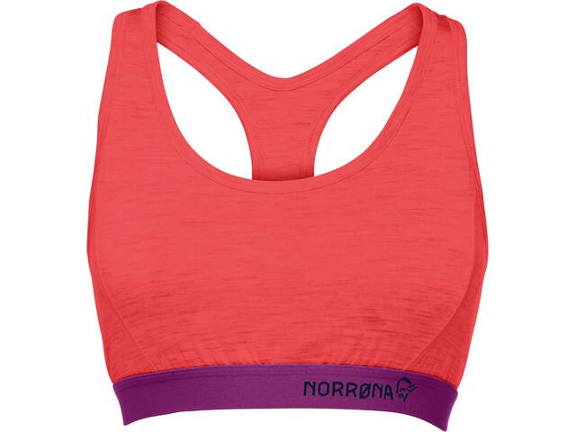 Norrøna Wool Sports-BH Damer, crisp ruby